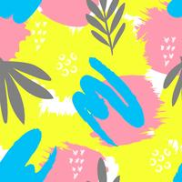 Modello creativo senza soluzione di continuità. Artistico ripetendo sfondo con forme astratte disegnati a mano. Design per tessile, wallpapper, poster, carta, invito, scrapbooking, intestazione, copertina, brochure, flyer. vettore