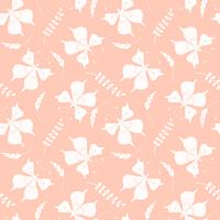 Vector seamless con farfalle ed elementi floreali.
