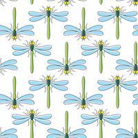 Modello senza cuciture di vettore della libellula per progettazione del tessuto, carta da parati, carta da imballaggio