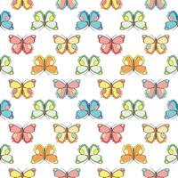 Farfalla senza motivo. Ripetendo sfondo farfalla per design tessile, carta da imballaggio, carta da parati, scrapbooking. vettore