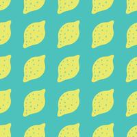 Sfondo senza soluzione di continuità con i limoni. Limoni che ripetono il modello per la progettazione tessile. vettore