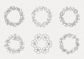 Hand Drawn Wreath Vector Pack II