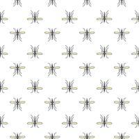 Modello senza cuciture di vettore della zanzara per progettazione del tessuto, carta da parati, carta da imballaggio