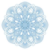 Simbolo etnico mandala per libro da colorare. Modello di terapia antistress. Vector abs