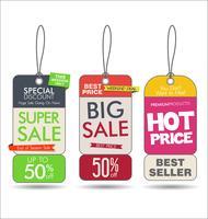 La vendita etichetta la raccolta moderna variopinta vettore