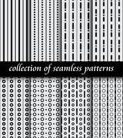 Set di modelli senza cuciture art deco. Texture moderne ed eleganti. sfondi astratti
