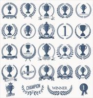 Collezione di badge e contrassegni di trofei e premi