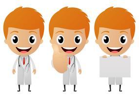 cartone animato giovane medico vettore