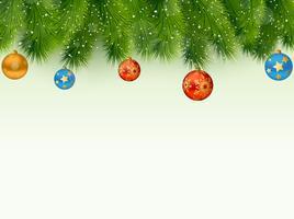 Sfondo albero di Natale vettore