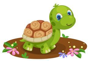 cartone animato carino tartaruga vettore