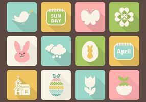 Pacchetto di icone vettoriali di Pasqua