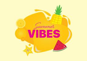 Vibrazioni liquide estive con frutta vettore