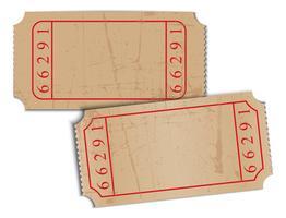 biglietti d'epoca carta bianca vettore