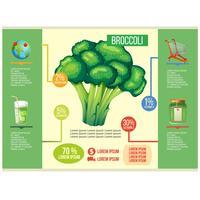 vettore di broccoli infografica