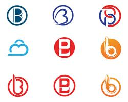Illustrazione di vettore di progettazione dell'icona della lettera di B.