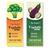 modello di banner di broccoli melanzane vettore