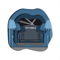 arte della carta di hollywood