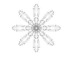 linea del modello di vettore dell'illustrazione del circuito
