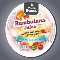 etichetta con etichetta di succo di rambutan