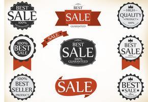 Etichette Premium di qualità e garanzia con stile vintage retrò
