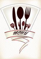 Progettazione del menu del ristorante vettore