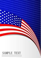 Carta della carta della bandiera del quarto giorno dell'indipendenza dell'America vettore