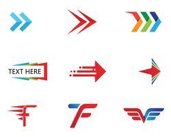 Progettazione più veloce dell'illustrazione dell'icona di vettore del modello di logo