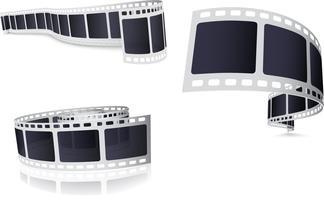 Set di rulli per pellicola fotografica vettore