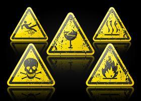 set di segnali di pericolo vettore
