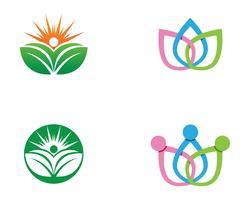 icona di vettore del modello di vita sana persone Logo