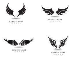 Vettore del modello di logo e di simboli del falco dell'ala dell'aquila