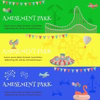 Insegna orizzontale della luna park del parco di divertimenti