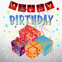 celebrazione della scatola regalo di compleanno vettore