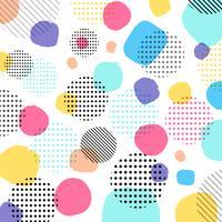 Pastelli moderni astratti di colore, modello di punti neri con linee in diagonale su sfondo bianco.