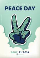 Disegno vettoriale di Giornata internazionale della pace