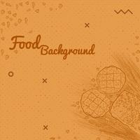 Disegnare a mano stile cibo sfondo per Tamplate
