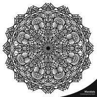 Elementi decorativi di stile contemporaneo di Mandala