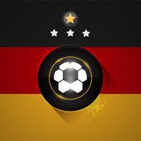 bandiera del calcio della Germania vettore