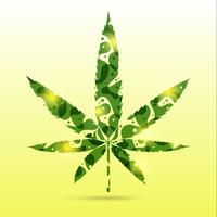 foglie di cannabis astratte