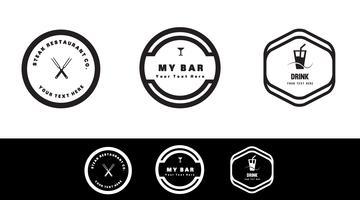 concetto di logo di cibo e bevande. Distintivo moderno