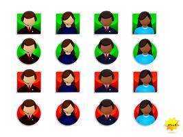 Set di icone di supporto online