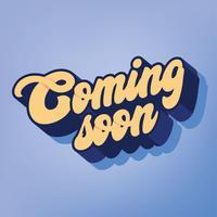 Coming Soon Vector Design