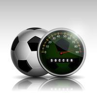 orologio da pallone da calcio vettore