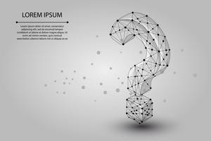 Linea di mash astratta e punto Punto interrogativo. Illustrazione vettoriale di affari Poligonale low poly