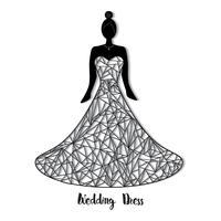 Modello di abito da sposa vettore