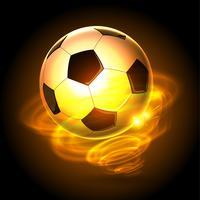 pallone da calcio a forma di palla di fuoco vettore