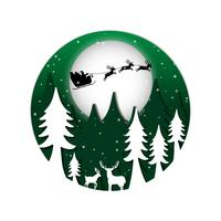 Stile di carta sfondo di Natale