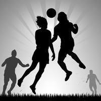 Intestazione del calciatore vettore