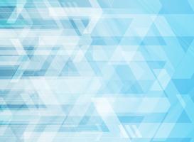 Frecce corporative geometriche di tecnologia astratta su fondo blu.
