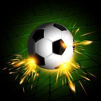 Illuminazione pallone da calcio vettore